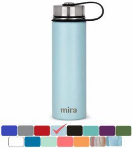 MIRA vakuumisolierte Weithals-Wasserflasche aus Edelstahl | Thermosflasche hält 24 Stunden kalt