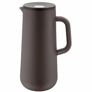 WMF Isolierkanne Thermoskanne IMPULSE taupe 1,0l für Kaffee oder Tee Druckverschluss 24h