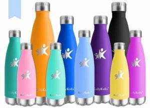 KollyKolla Vakuum Isolierte Edelstahl Trinkflasche, BPA Frei Wasserflasche Auslaufsicher