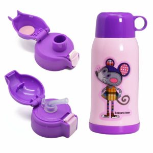 Vakuum Thermosflasche,Doppelwandig Edelstahl Wasserflasche,Isolierflasche für Kinder