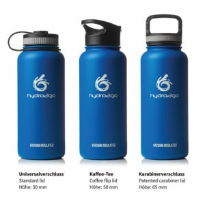 hydro2go ® Edelstahl Trinkflasche X-AlpsBottle - 1000ml